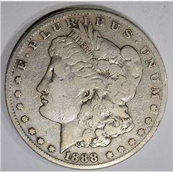 1888-S MORGAN DOLLAR, VG/F