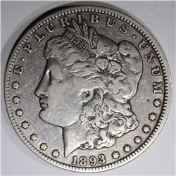 1893-O MORGAN DOLLAR, VF