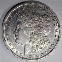 1893 MORGAN DOLLAR, AU
