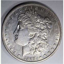1892-S MORGAN DOLLAR, AU