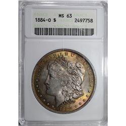 1884-O MORGAN DOLLAR, ANACS MS-63