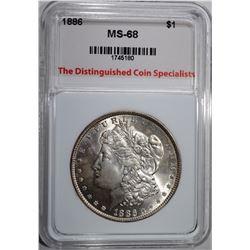 1886 MORGAN DOLLAR, TDCS SUPERB GEM BU++