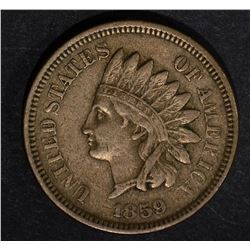 1859 INDIAN HEAD CENT XF