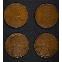 1911-S VG, 1912-S VF,1913-S VF,1914-S VF