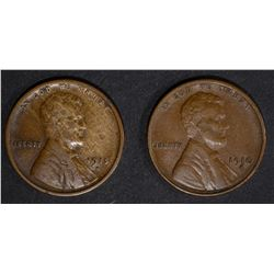 1910-S XF, 1915-S XF LINCOLN CENTS