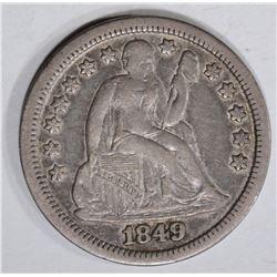 1849 SEATED DIME XF