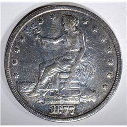 1877 TRADE DOLLAR, VF POLISHED