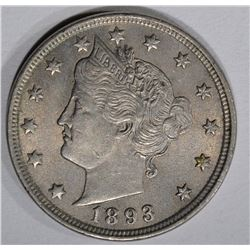 1893 LIBERTY NICKEL, AU