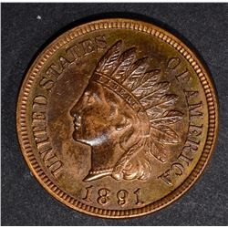 1891 INDIAN CENT, CH BU RB