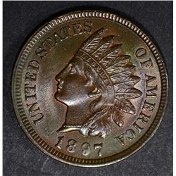 1897 INDIAN CENT, CH BU