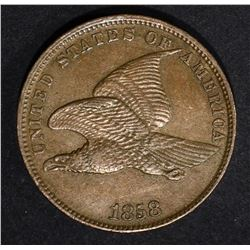 1858 FLYING EAGLE CENT, AU