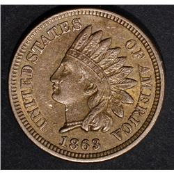 1863 INDIAN CENT, CH BU