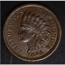 1864 BRONZE INDIAN CENT, CH BU