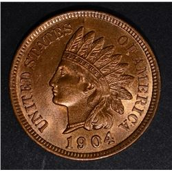 1904 INDIAN CENT, GEM BU RD