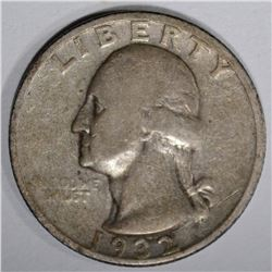 1932-S WASHINGTON QUARTER, VF