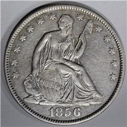 1856-O SEATED HALF DOLLAR, AU/BU