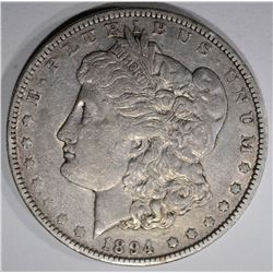 1894-O MORGAN DOLLAR, XF/AU