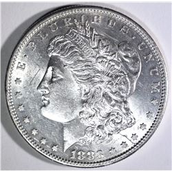 1883-S MORGAN DOLLAR, CH BU scratch on obverse
