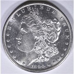 1890-S MORGAN DOLLAR, CH BU FLASHY
