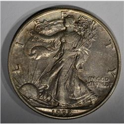 1938-D WALKING LIBERTY HALF DOLLAR  AU