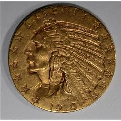 1910-S $5.00 GOLD INDIAN HEAD  UNC
