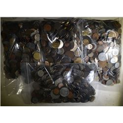 OVER 19 POUNDS OF FOREIGN COINS--UNSEARCHED