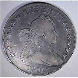 1800 DRAPED BUST SILVER DOLLAR  VF