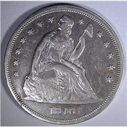 1846 SEATED DOLLAR  CH BU