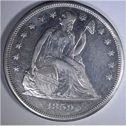 1859-O SEATED DOLLAR  AU/BU