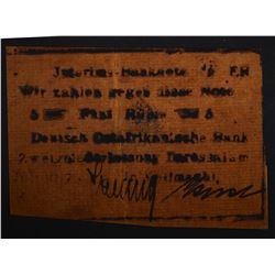 1917 5 RUPIE #2289 GERMAN EAST AFRICA