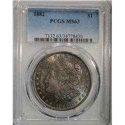 1882 MORGAN DOLLAR PCGS MS63