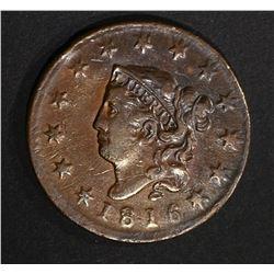 1816 LARGE CENT  XF/AU