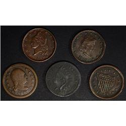 CIVIL WAR TOKEN LOT; 4 - 1863, 1-1864