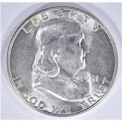 1951-S FRANKLIN HALF DOLLAR BU