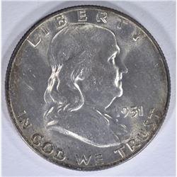 1951-D FRANKLIN HALF DOLLAR BU