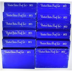 6- 1971 & 6- 1972 PROOF SETS
