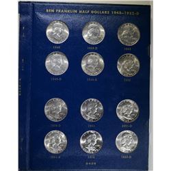 GEM BU FRANKLIN HALF DOLLAR SET IN ALBUM