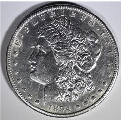 1894-S MORGAN DOLLAR AU/BU CLEANED
