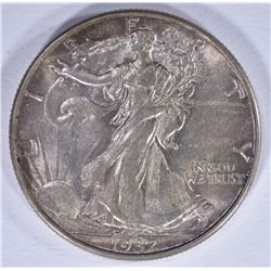 1937-D WALKING LIBERTY HALF DOLLAR, CH BU
