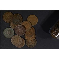 ROLL OF 50-CIRC 1888 INDIAN CENTS