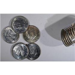BU ROLL OF 1965 KENNEDY HALF DOLLARS
