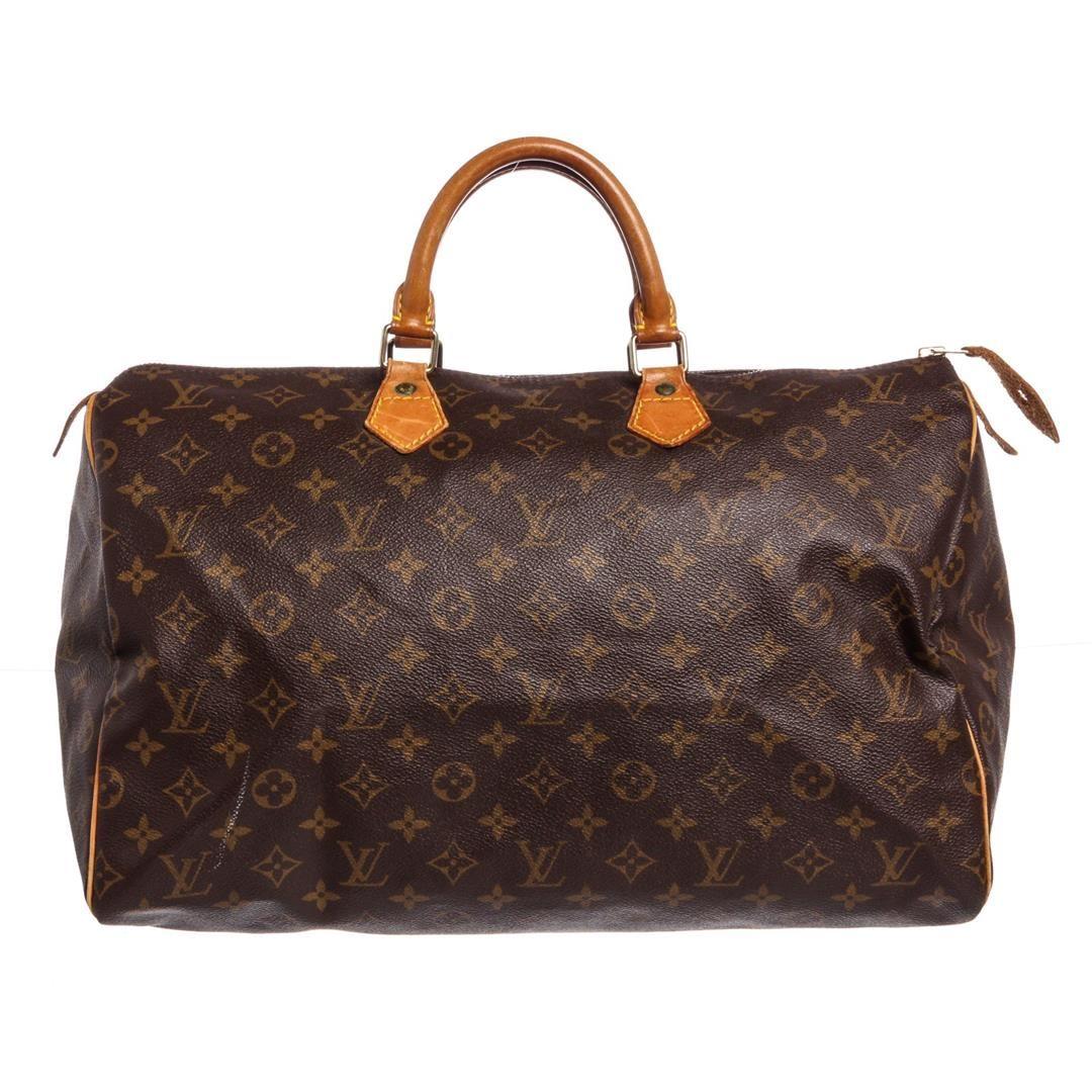 2b14a6f231e5 Image 1   Louis Vuitton Monogram Canvas Leather Speedy 40 cm Bag ...
