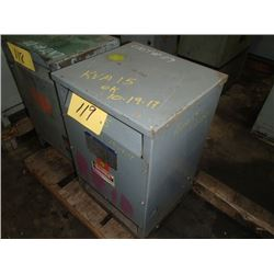 Square D, 15KVA, Single Phase Transformer, CAT: 15SIH