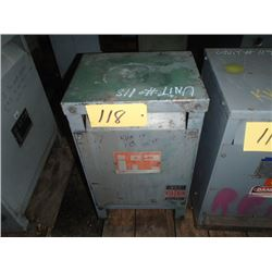 Hevi-Duty Electric, 15KVA Single Phase Transformer, CAT: S5H 15, SER. C