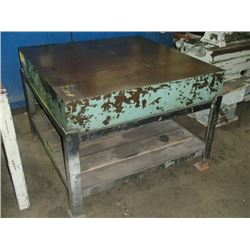 "Steel Slab Welding Table, Overall: 48"" x 48"" x 36"""