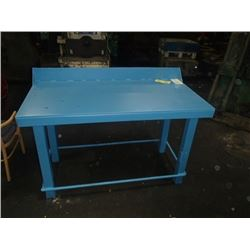 "Heavy-Duty Steel Work Table, Overall: 60"" x 30"" x 41"""
