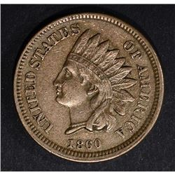1860 INDIAN CENT, XF