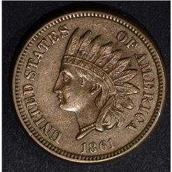 1861 INDIAN CENT, XF