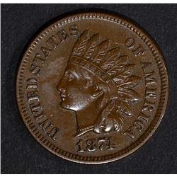 1874 INDIAN CENT, AU