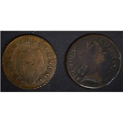 1785 CONNECTICUT & NEW JERSEY COLONIAL COINS